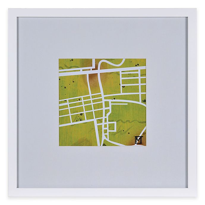 Alternate image 1 for Watercolor Map Framed Wall Art in Green
