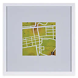 Watercolor Map Framed Wall Art in Green