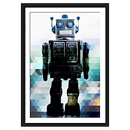 Globot the Robot Wall Art in Blue