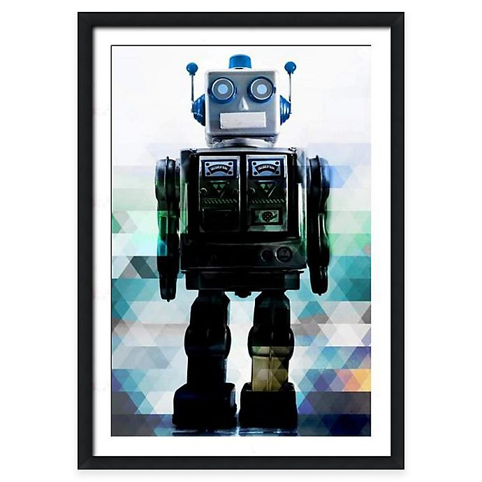 Alternate image 1 for Globot the Robot Wall Art in Blue