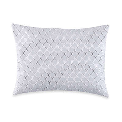 Barbara Barry® Lace Crystal Eyelet Oblong Throw Pillow in Glacier