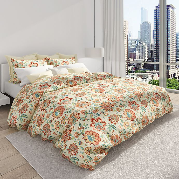 Alternate image 1 for Colorfly™ Bella King Duvet Cover Set in Melon