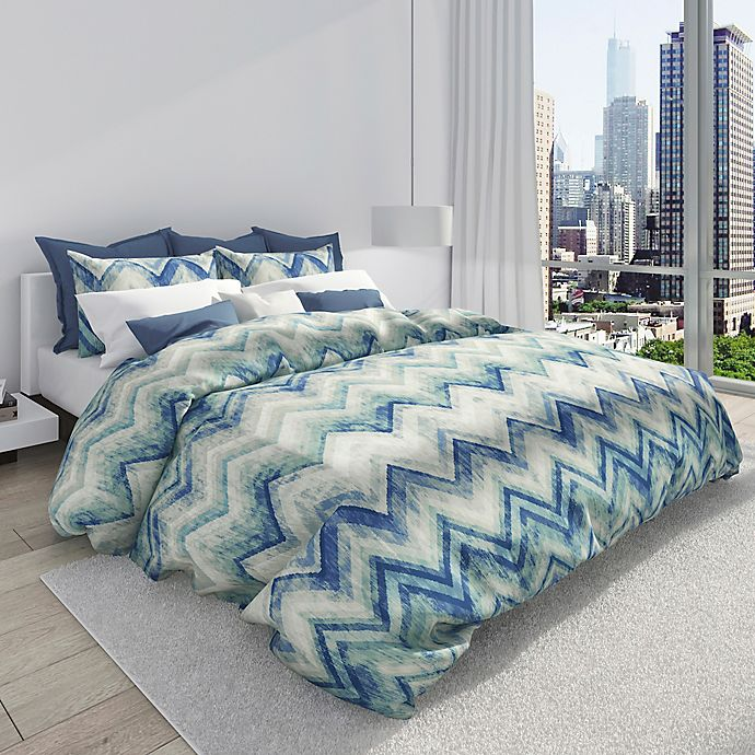 Alternate image 1 for Colorfly™ Germain King Duvet Cover Set in Sea Glass
