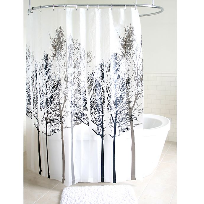 Alternate image 1 for Forest PEVA Shower Curtain in Grey