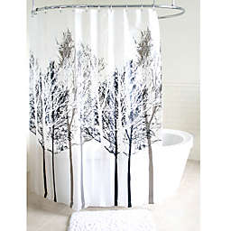Forest PEVA Shower Curtain in Grey