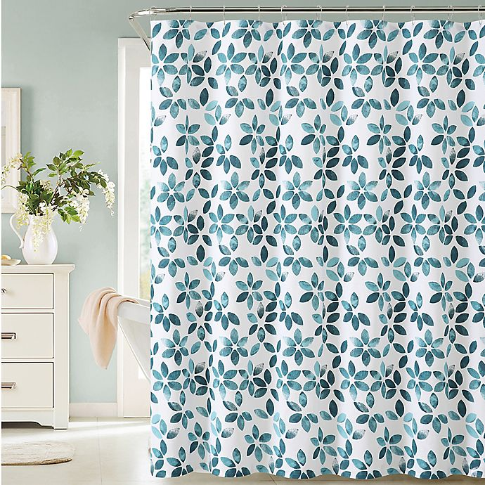 Veria Shower Curtain In Teal White