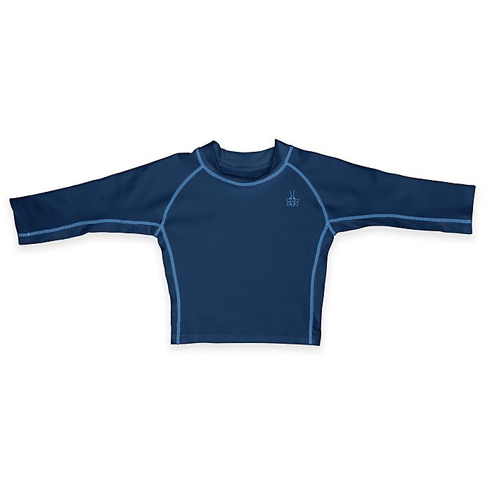 Alternate image 1 for i play.® Size 4T Long Sleeve Rashguard in Navy