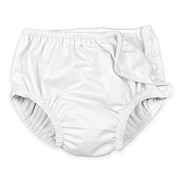 i play.® Size 4T Ultimate Snap Reusable Swim Diaper in White