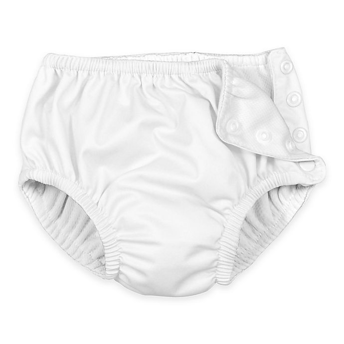Alternate image 1 for i play.® Size 4T Ultimate Snap Reusable Swim Diaper in White