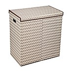 Household Essentials® Collapsible 2-Compartment Laundry Hamper in Brown