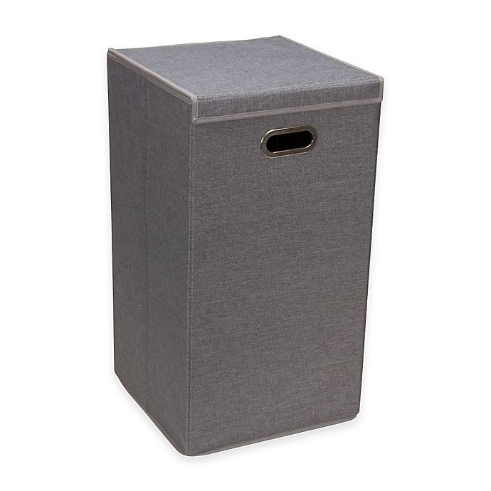 Alternate image 1 for Household Essentials® Collapsible Laundry Hamper in Grey