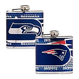 NFL Stainless Steel Metallic Hip Flask