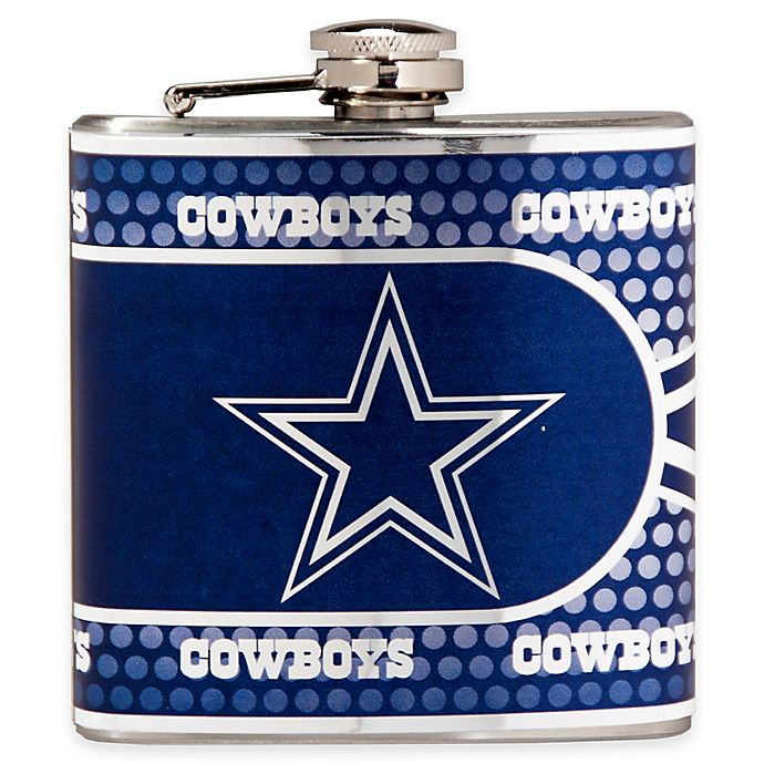 Dallas Cowboys Stainless Steel Coasters 4 Pack: NFL Dallas Cowboys Stainless Steel Metallic Hip Flask