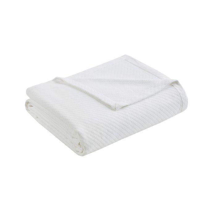 Alternate image 1 for Madison Park Liquid Cotton King Blanket in White