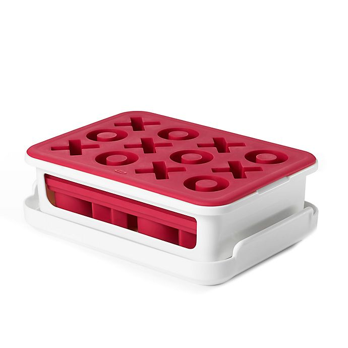 Alternate image 1 for OXO Covered X & O Silicone Ice Cube Tray