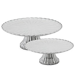 Julia Knight® Peony Footed Cake Stand Collection in Snow