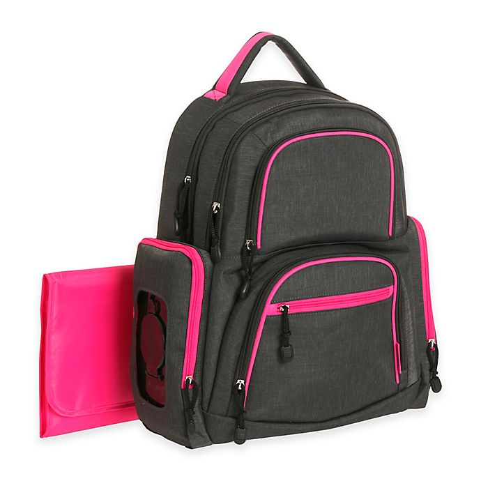 Carter S Sport Backpack Diaper Bag In Grey Pink