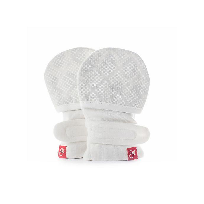 Alternate image 1 for goumi Organic Cotton Size 0-3M Mitts in Diamond Dots Cream