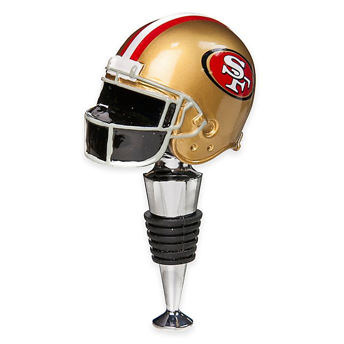 sports shoes 133b7 bbaef NFL San Francisco 49ers Helmet Bottle Stopper | Bed Bath ...