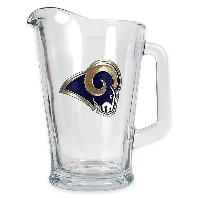Alternate image 1 for NFL Los Angeles Rams 1/2 Gallon Glass Pitcher