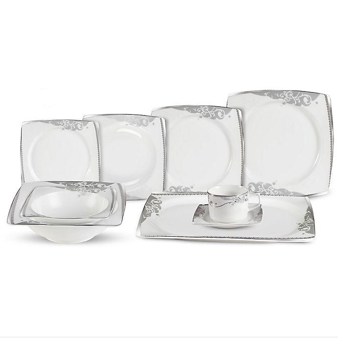 Alternate image 1 for Lorren Home Trend Belle 30-Piece Dinnerware Set