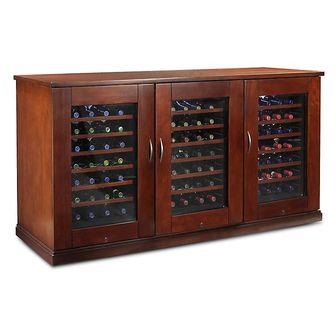Wine Enthusiast 174 84 Bottle Trilogy Wine Credenza In