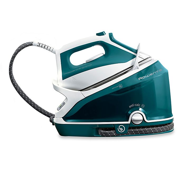 Alternate image 1 for Rowenta® Compact Steam Station in White/Teal