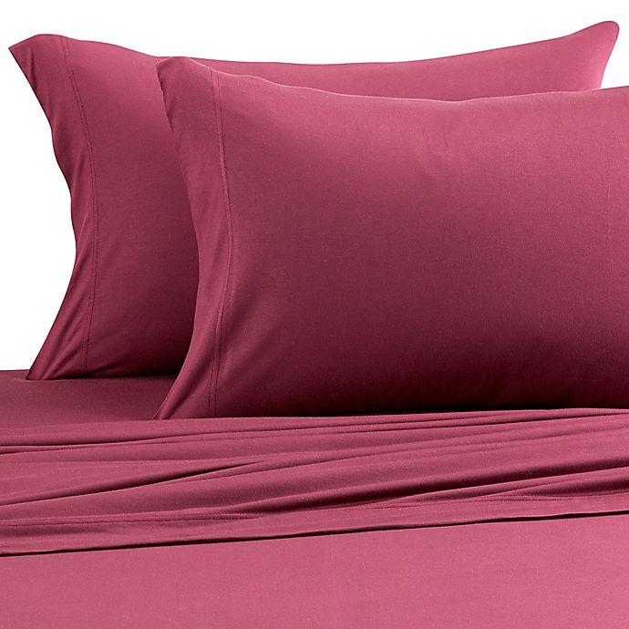 Alternate image 1 for Pure Beech® Jersey Knit Modal Full XL Sheet Set in Burgundy