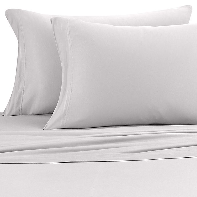 Alternate image 1 for Pure Beech® Jersey Knit Modal King Pillowcases in Heather Grey (Set of 2)