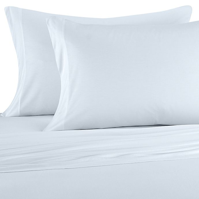 Alternate image 1 for Pure Beech® Jersey Knit Modal California King Sheet Set in Ice Blue