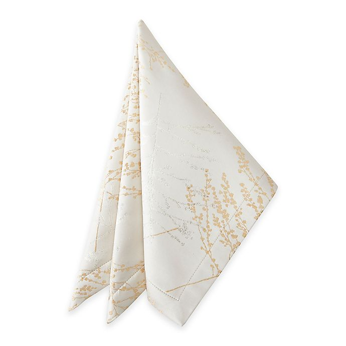 Alternate image 1 for Waterford® Linens Timber Napkin in Golden/Silver
