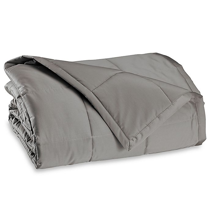 Alternate image 1 for Wamsutta® Dream Zone® Twin Lightweight Down Alternative Blanket in Grey