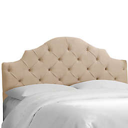 Skyline Furniture Kingsbury Full Headboard in Velvet Pearl