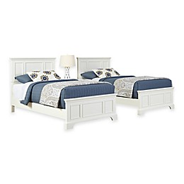 Home Styles Naples 3-Piece Twin Beds and Nightstand Set in White