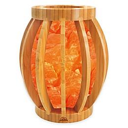 Himalayan Glow® Bamboo Basket Salt Lamp