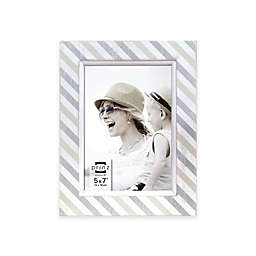 Prinz 5-Inch x 7-Inch Screeprinted Wood Frame with Filet in White