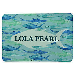 Bacova 19-Inch x 13-Inch Green and Blue Fish Pet Mat