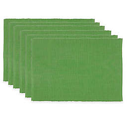 Ribbed Placemats in Jolly Green (Set of 6)