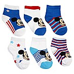 Disney® Size 12-24M 6-Pack Mickey Mouse Socks in Assorted Designs