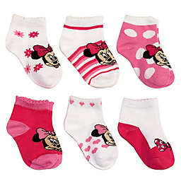Disney® 6-Pack Minnie Mouse Socks in Assorted Designs