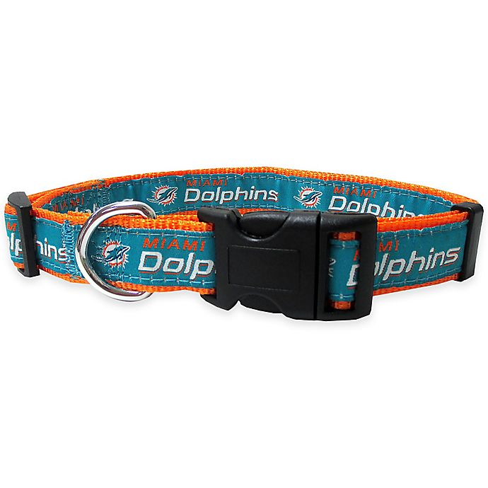 Alternate image 1 for NFL Miami Dolphins Large Pet Collar