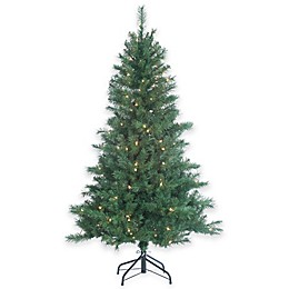 5-Foot Pre-Lit Colorado Spruce Christmas Tree with Clear Lights