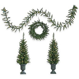 4-Piece Norway Pine Holiday Decor Set