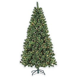 7-Foot Pre-Lit Hard Needle Deluxe Cashmere Artificial Christmas Tree with Clear Lights