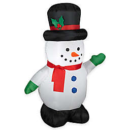 35 foot inflatable outdoor snowman with top hat holiday lawn ornament