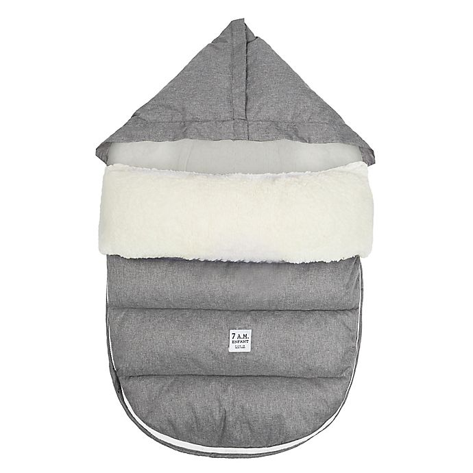 Alternate image 1 for 7 A.M.® Enfant LambPOD Footmuff Cover with Base in Heather Grey/Grey