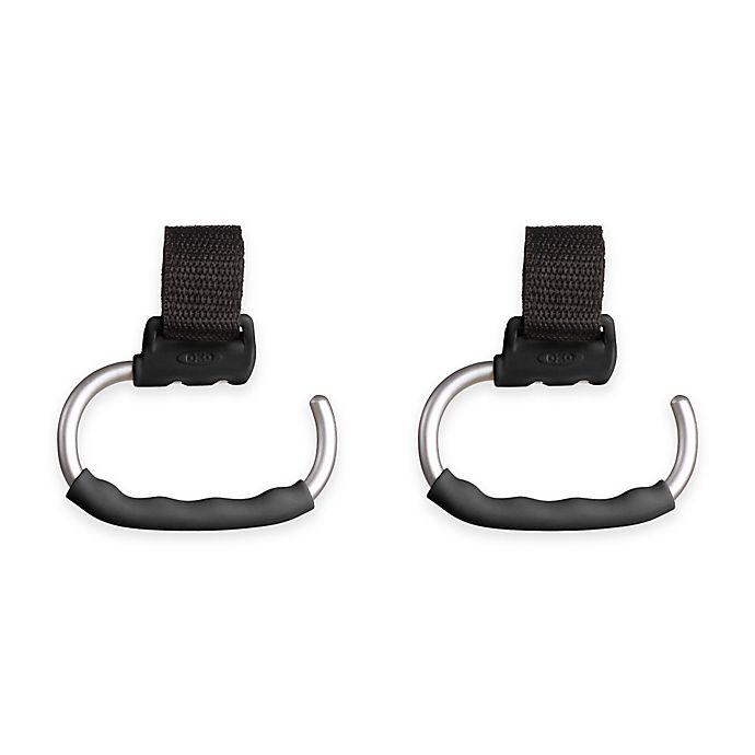 Alternate image 1 for OXO Tot® Handy Stroller Hooks in Grey (Set of 2)