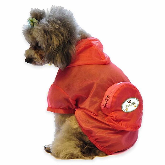Alternate image 1 for Pet Life® Small Waterproof Folding Travel Dog Raincoat in Orange