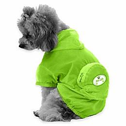 Thunder Paw Waterproof Adjustable Zippered Folding Travel Dog Raincoat