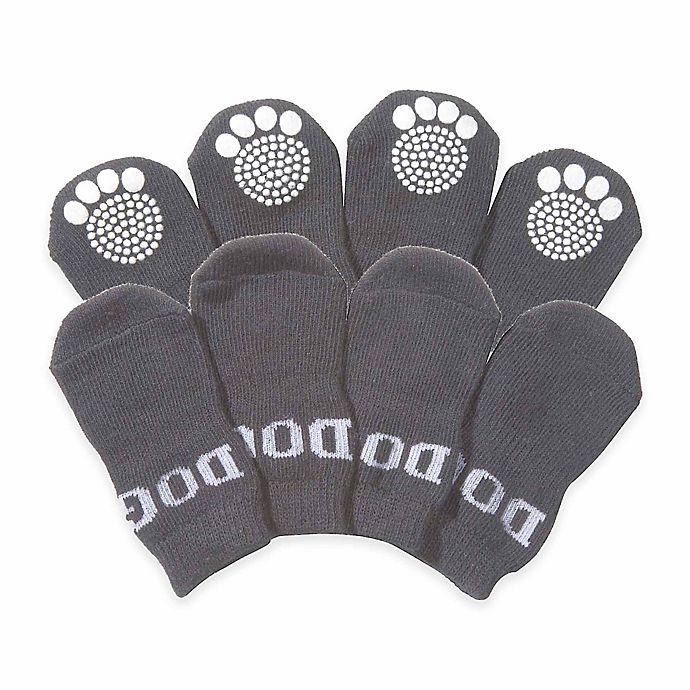 Alternate image 1 for Rubberized Sole Dog Socks (Set of 4)